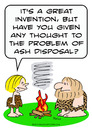 Cartoon: ash disposal caveman invent fire (small) by rmay tagged ash,disposal,caveman,invent,fire