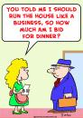 Cartoon: bid for dinner business (small) by rmay tagged bid,for,dinner,business