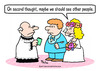 Cartoon: bride wedding see other people (small) by rmay tagged bride,wedding,see,other,people