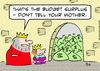 Cartoon: budget surplus king (small) by rmay tagged budget,surplus,king