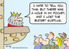 Cartoon: budget surplus king hole pocket (small) by rmay tagged budget,surplus,king,hole,pocket