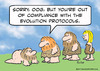 Cartoon: caveman compliant evolution (small) by rmay tagged caveman,compliant,evolution