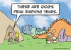Cartoon: caveman earning years peak (small) by rmay tagged caveman,earning,years,peak