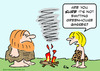 Cartoon: caveman fire greenhouse gases (small) by rmay tagged caveman,fire,greenhouse,gases