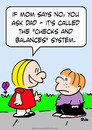 Cartoon: checks balances system kids mom (small) by rmay tagged checks,balances,system,kids,mom,dad