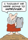 Cartoon: commandments moses improvise (small) by rmay tagged commandments,moses,improvise