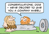 Cartoon: company wheel caveman (small) by rmay tagged company,wheel,caveman