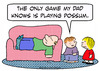 Cartoon: dad plays possum kids (small) by rmay tagged dad,plays,possum,kids