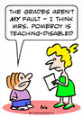 Cartoon: disabled teaching grades (small) by rmay tagged disabled,teaching,grades