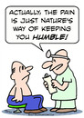 Cartoon: doctor pain nature humble (small) by rmay tagged doctor,pain,nature,humble