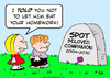 Cartoon: dog ate homework died (small) by rmay tagged dog,ate,homework,died
