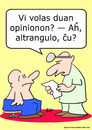 Cartoon: duan opinionon esperanto (small) by rmay tagged duan,opinionon,esperanto