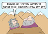 Cartoon: fell fall off mountain guru (small) by rmay tagged fell,fall,off,mountain,guru