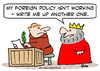 Cartoon: foreign policy monk king (small) by rmay tagged foreign,policy,monk,king