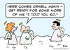 Cartoon: George Orwell heaven (small) by rmay tagged george,orwell,heaven