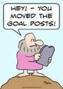 Cartoon: goal posts moved moses (small) by rmay tagged goal,posts,moved,moses