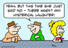 Cartoon: hysterical laughter just said no (small) by rmay tagged hysterical,laughter,just,said,no