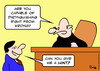 Cartoon: judge distinguish right wrong (small) by rmay tagged judge,distinguish,right,wrong