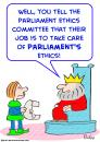 Cartoon: king parliament ethics committee (small) by rmay tagged king,parliament,ethics,committee
