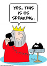 Cartoon: king yes us speaking phone (small) by rmay tagged king,yes,us,speaking,phone