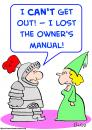 Cartoon: knight armor owners manual (small) by rmay tagged knight,armor,owners,manual