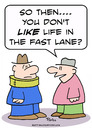 Cartoon: life fast lane neck brace (small) by rmay tagged life,fast,lane,neck,brace