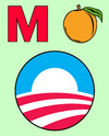Cartoon: M Peach Obama (small) by rmay tagged peach,obama