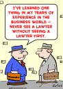Cartoon: never see lawyer business (small) by rmay tagged never,see,lawyer,business
