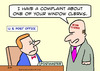 Cartoon: Post office complaint (small) by rmay tagged complaint,post,office,window,clerk