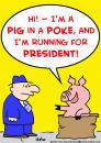 Cartoon: running president pig poke (small) by rmay tagged running,president,pig,poke