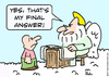 Cartoon: Saint Peter Heaven final answer (small) by rmay tagged saint,peter,heaven,final,answer