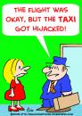 Cartoon: TAXI HIJACKED FLIGHT (small) by rmay tagged taxi,hijacked,flight