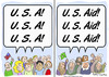 Cartoon: USAID u. s. aid pakistan osama (small) by rmay tagged usaid,aid,pakistan,osama